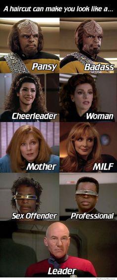 Star Trek: TNG haircuts make you look like a...