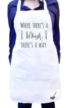 Add any quotes you like to your own personalized apron.