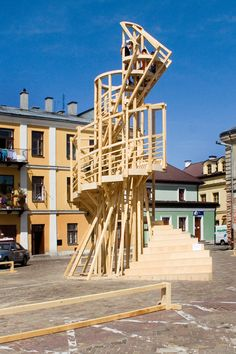 Flashback: 2006 Zamość (Poland). Endeavours watchtower for the Fourth Internationale by Kai Schiemenz for Ideal City – Invisible Cities' p...