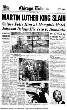 martin luther king jr assassination newspaper | Who Assassinated Martin Luther King