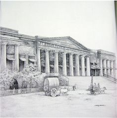 On View at Pradarshak - Old Asiatic Liabrary  Mumbai Landmarks by Sidhaling Ankalkote