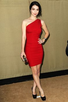Mila in Scarlett's red dress that she wore to the Valentine's party