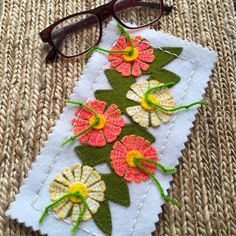 Little projects. Clarice Cliff inspired sunglass case kit in pink. Find me @ birdiebown.co.nz