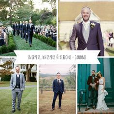 Snippets, Whispers & Ribbons - Groomswear Inspiration