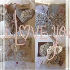 A little vintage loveliness for your wedding day from Jan McGuire designs love Sewing ... Gorgeous English linen and vintage haberdashery.... Beautiful!