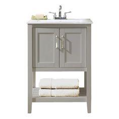 25 Rustic Style Ideas With Rustic Bathroom Vanities | White vanity ...