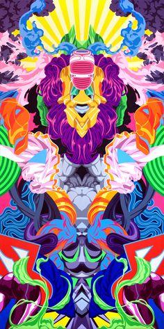 Zerorez (The Vibrant & Colorful Works of James Roper on CrispMe)