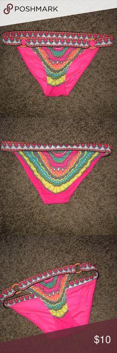 Colorful bikini bottoms So cute and can wear with so many different bikini tops PINK Victoria's Secret Swim Bikinis