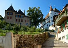 Montée au Château, Nyon, Switzerland. Rives, I Want To Travel, Austria, Switzerland, Places Ive Been, To Go, Universe, Explore, Mansions