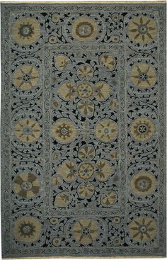 Suzani 10 (gray) - A Rug For All Reasons - Handmade Area Rugs