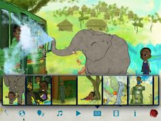 """FREE app March 17th (reg 7.99) """"Walter's Flying Bus"""" is inspired by the real-life art and dreams of Walter and his friends, who all live together at a special needs orphanage in Uganda."""