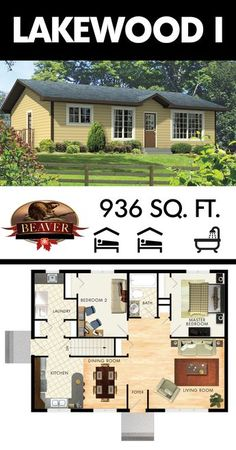 The Lakewood I is a country #bungalow just under 1000 square feet. Much like the Lakewood II, it is spacious, comfortable and efficient. #BeaverHomesandCottages