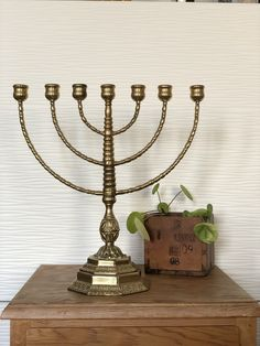 Excited to share this item from my shop: Heavy bronze menorah vintage pedestal stunning 7 arm bronze malm Sweet 16 Invitations, Invitation Cards, Party Invitations, Menorah Candles, Bar Mitzvah Invitations, Swedish Christmas, Hanging Tapestry, Malm, Candlestick Holders