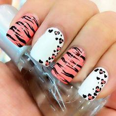 Simple Zebra Nail Design