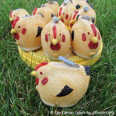 Cute little chicken coin purses