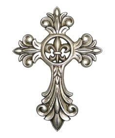 Vintage-Inspired: Home Accents  $Pewter Cross Wall Art  $27.00