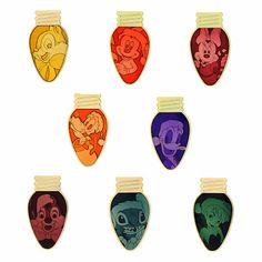 Christmas Light Bulb Mystery pin set! I want Stitch!!