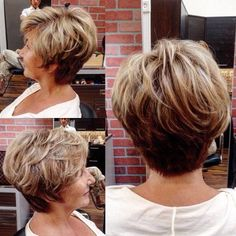 Chic And Sporty hairstyle These chic short haircuts for older women are perfect for the wise & beautiful, regardless of age! Check out our favorite bobs, pixies, lobs & shags! Sporty Hairstyles, Short Hairstyles For Thick Hair, Short Layered Haircuts, Mom Hairstyles, Haircut For Thick Hair, Older Women Hairstyles, Curly Hair Styles, Haircut Short, Medium Hairstyle
