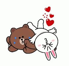 The perfect Cony Brown ConyAndBrown Animated GIF for your conversation. Discover and Share the best GIFs on Tenor. Cute Couple Cartoon, Cute Cartoon Pictures, Cute Pictures, Gif Lindos, Cony Brown, Brown Bear, Bear Gif, Cute Love Gif, Cute Love Cartoons