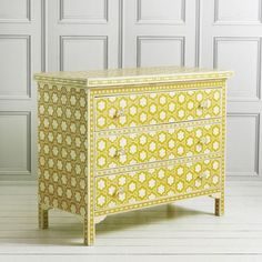 Mio Chest of Drawers in Yellow - Chest Of Drawers - Bedroom