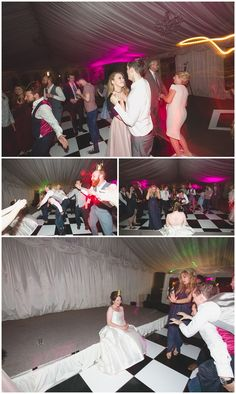 Guests tearing it up on the dance floor at Clonabreany House