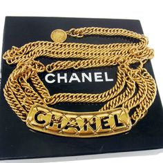 Vintage #CHANEL Quilted Cutout #Plaque #Belt by #LadyDangerVintage via @Etsy