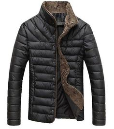 Men's Quilted Jacket Casual Outerwear Padded Jacket For Autumn Winter Spring Everyday Mens Coat - Available in 4 Colors Green Parka Mens, Navy Parka, Mens Winter Coat, Winter Jackets, Winter Coats, Men's Jackets, Shop Jackets, Casual Jackets, Mens Coats And Jackets