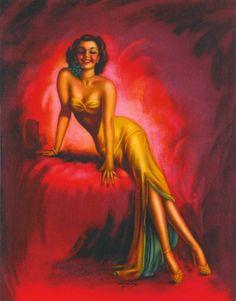 "Art by Billy Devorss - To panel ""Women in Yellow"" Stunning Women, Beautiful, Art Through The Ages, Calendar Girls, Gil Elvgren, Vintage Beauty, Pin Up Girls, Female Art, Illustrators"