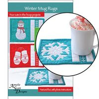 IN THE HOOP WINTER MUG RUGS EMBROIDERY DESIGNS | Tata gifts ...