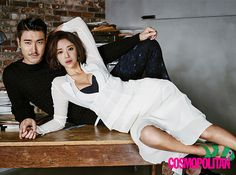 """The Leads Of """"She Was Pretty"""" Take On Cosmopolitan Korea's October 2015 Issue 
