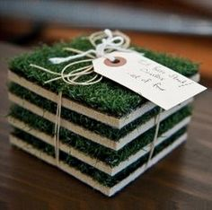 Coasters from Pinterest (link)