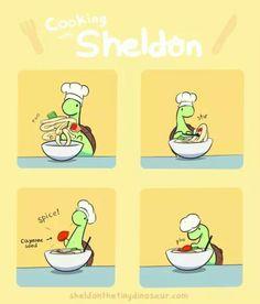 Sheldon the tiny dinosaur