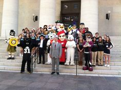 Can you pick out the NCAC at the Association of Independent Colleges and Universities of Ohio's MascotDay2013 in Columbus?