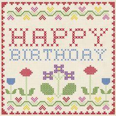 Cross Stitch Birthday Card Price - £1.00: