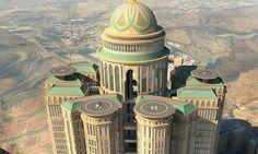 Próximamente el #hotel más grande del #mundo en la #Meca, contará con 10,000 cuartos, 70 restaurantes, 4 helipuertos. #Hogaressauce.
