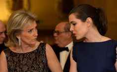 Princess Astrid and Charlotte Casiraghi at a dinner organized by the FXB International Association