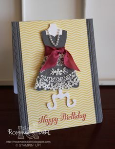 Stampin' Up! Birthday  by Rose Marie Diehl at Rose's World: Dress Up Birthday!