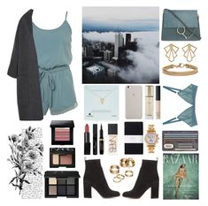 """Pain makes people change."" by angie-5soslm ❤ liked on Polyvore featuring Vince, Chloé, Gianvito Rossi, Dogeared, Versace, The Nude Label, Apt. 9, Blue Nile, Toast and Guerlain"
