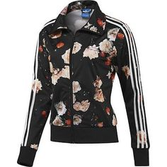 a6d2207382 NEW ADIDAS ORIGINALS WOMEN FIREBIRD ROSE FLOWER BLACK TRACK TOP JACKET S M L