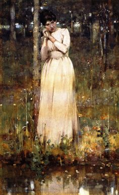 The Girl in White  George Henry