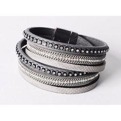 AM/_ 100*Loops Silver Plated Steel Wire Cuff Slim Thin Dainty Bangle Bracelet Set