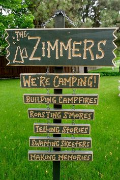 CAMPER CAMPING and RV Campsite personalized carved by signcarver, $88.00