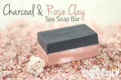 Uses Shea melt & pour soap, Activated Charcoal and Rose Clay for their purifying and cleansing properties
