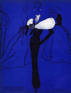 Balenciaga (Couture), 1953, Bernard Blossac, Evening Gown