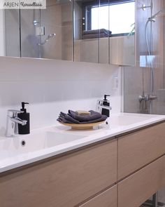 Arjen Karusellissa: Kotimme parhaat puolet Double Vanity, Bathroom, Washroom, Bathrooms, Bath, Double Sink Vanity