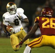 Notre Dame running back Theo Riddick. David Warren · Go Irish c16f4d387