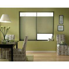 Bay Leaf 62-62.5-inch Cordless Top Down Bottom Up Cellular Shades (62 1/2W x 66H Bay Leaf), Green (Polyester)