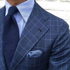 """"""" wearing a Viola Milano """"Navy"""" cashmere tie & handrolled… Gentleman Mode, Dapper Gentleman, Modern Gentleman, Gentleman Style, Mens Fashion Suits, Mens Suits, Men's Fashion, Fashion Styles, Herren Style"""