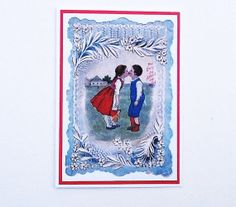 Valentines Card Romantic Victorian Valentine by WideSkyPapercrafts, £3.00