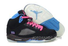 http://www.jordanabc.com/air-jordan-retro-5-girls-black-blue-pink-cheap-for-sale.html AIR JORDAN RETRO 5 GIRLS BLACK BLUE PINK CHEAP FOR SALE Only $88.00 , Free Shipping!